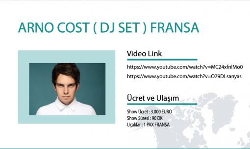 Arno Cost manager, Arno Cost menejeri, Arno Cost menajeri, Arno Cost contact, Arno Cost iletişimi, Arno Cost iletişim, Arno Cost websitesi